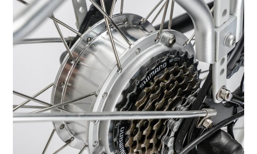 Zadní motor 250W + přehazovačka Shimano Acera 7 rychlostí