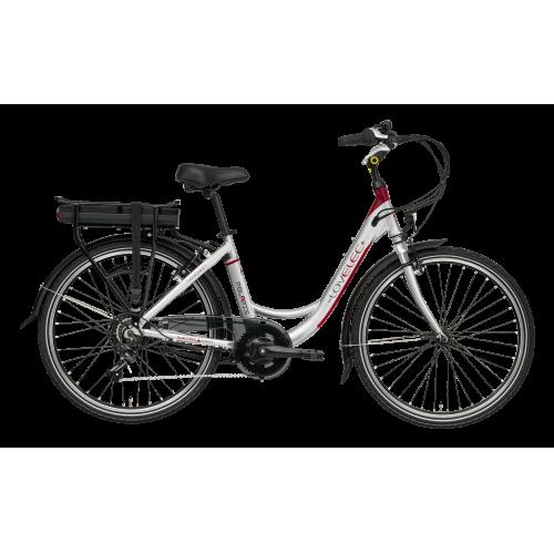 Mestský elektrobicykel LOVELEC Polaris Silver/Red