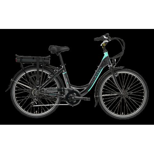 Mestský elektrobicykel LOVELEC Polaris Black/Mint !!POSLEDNÝ KUS!!